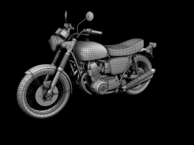 Honda Cb750 Four K0 1969 3d Model