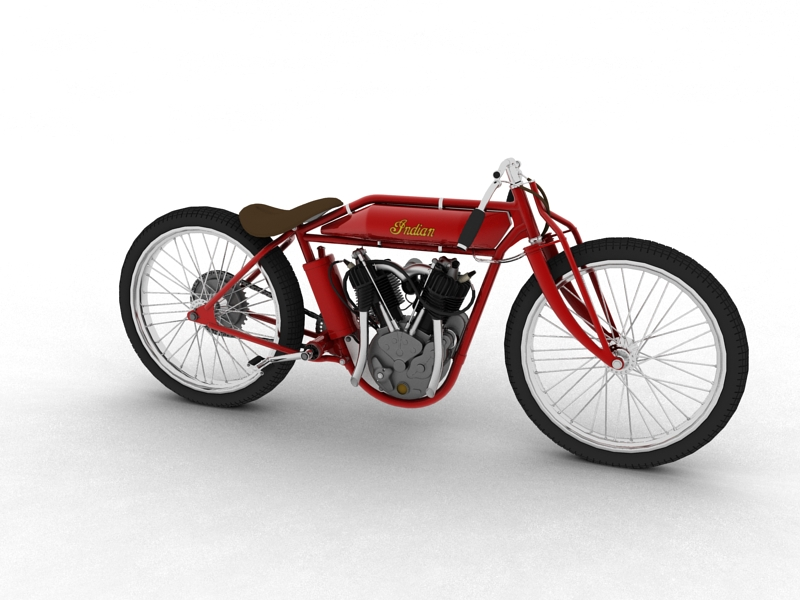 indian boardtrack racer 1920 3d model 3ds max dxf fbx c4d obj 156029