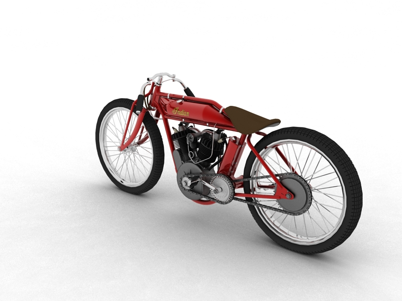 indian boardtrack racer 1920 3d model 3ds max dxf fbx c4d obj 156031