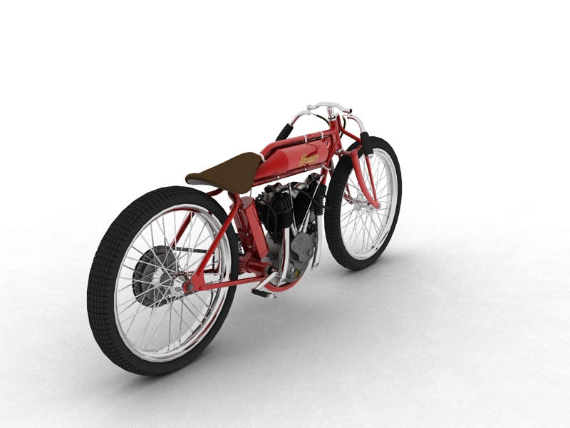 indian boardtrack racer 1920 3d model 3ds max dxf fbx c4d obj 156033