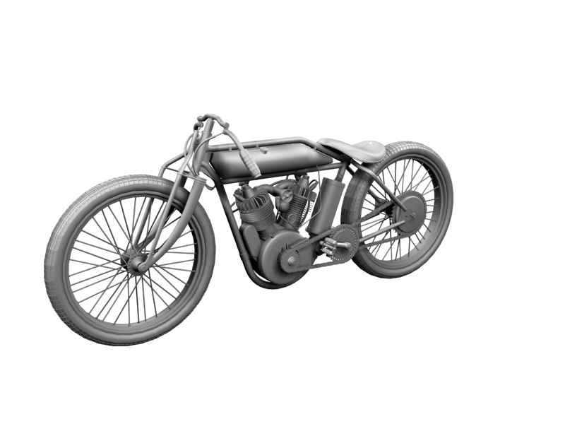 indian boardtrack racer 1920 3d model 3ds max dxf fbx c4d obj 156036
