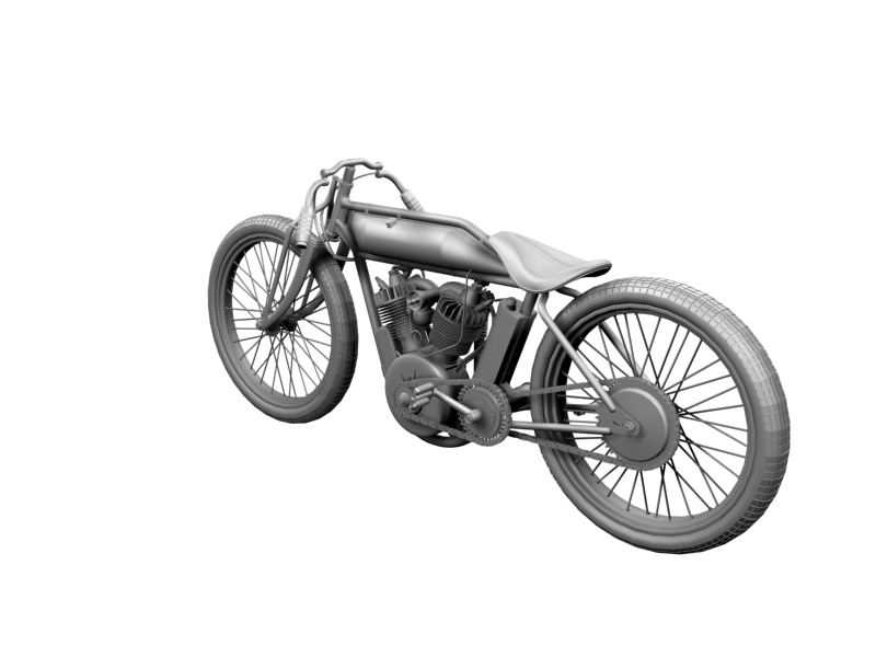 indian boardtrack racer 1920 3d model 3ds max dxf fbx c4d obj 156038