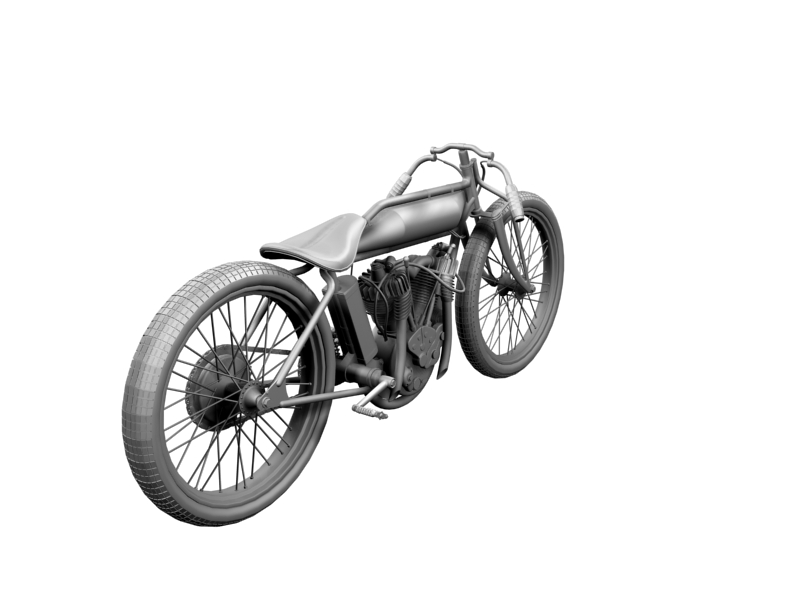 indian boardtrack racer 1920 3d model 3ds max dxf fbx c4d obj 156040