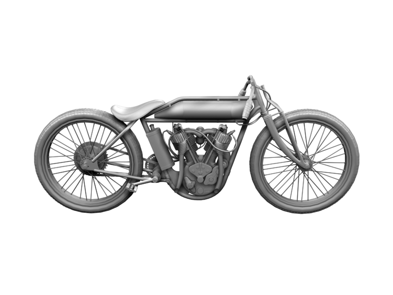 indian boardtrack racer 1920 3d model 3ds max dxf fbx c4d obj 156041