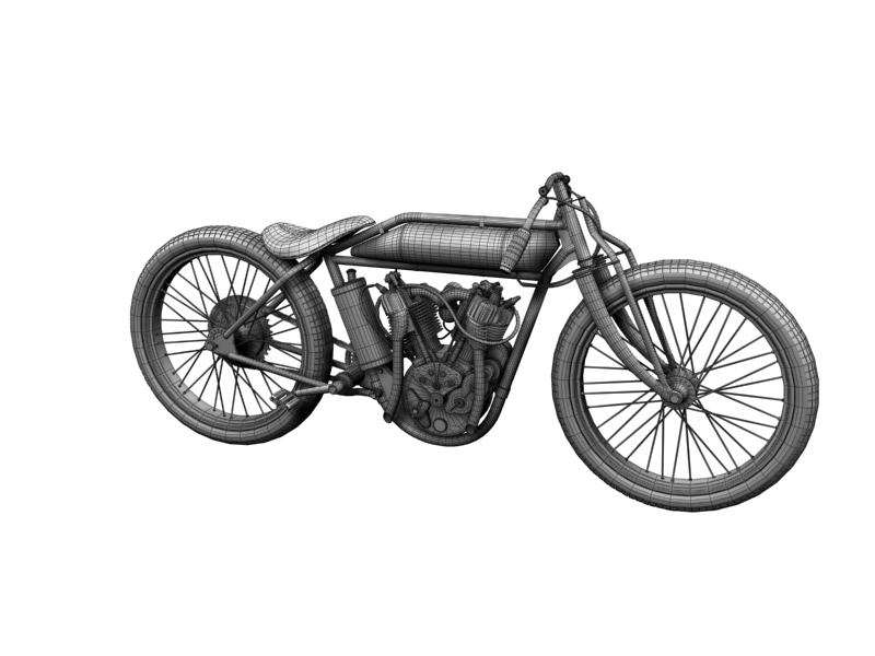 indian boardtrack racer 1920 3d model 3ds max dxf fbx c4d obj 156042