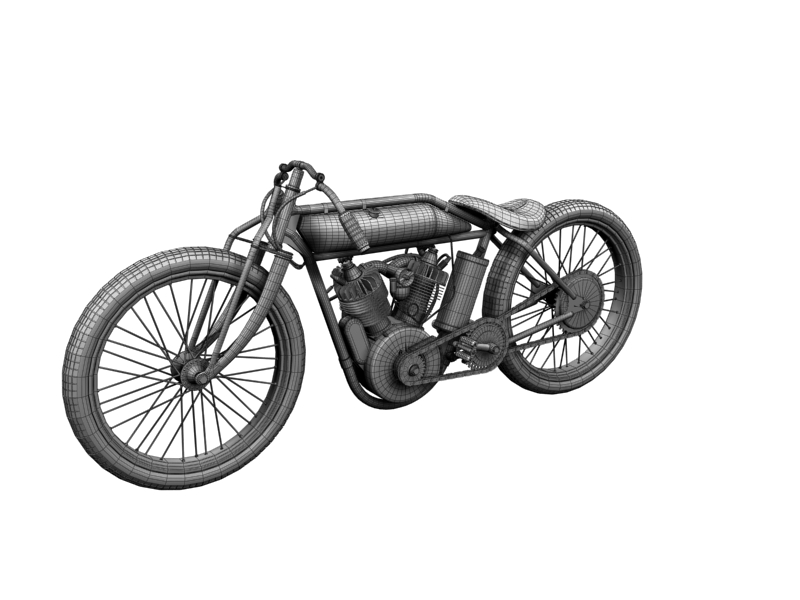 indian boardtrack racer 1920 3d model 3ds max dxf fbx c4d obj 156043