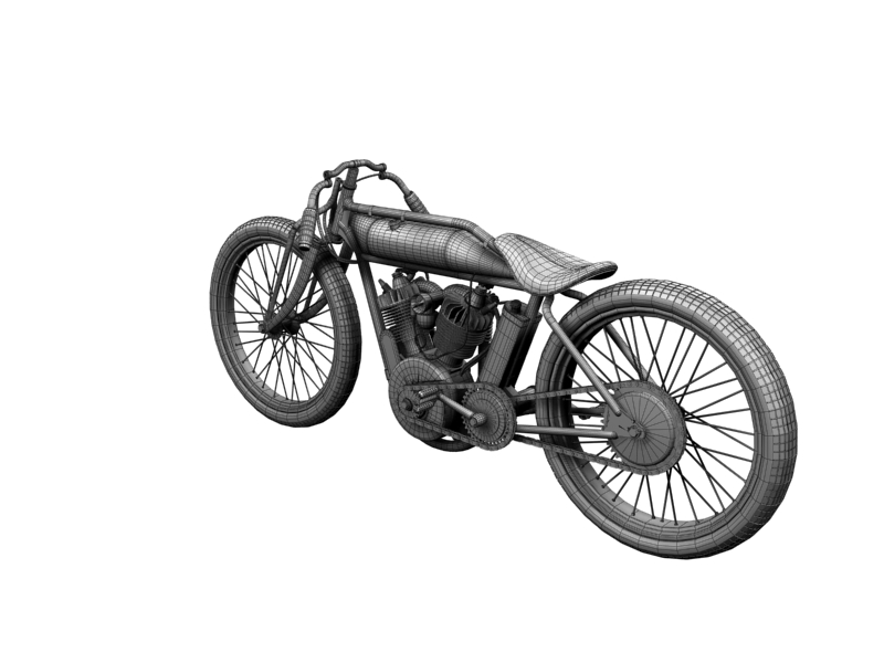 indian boardtrack racer 1920 3d model 3ds max dxf fbx c4d obj 156045
