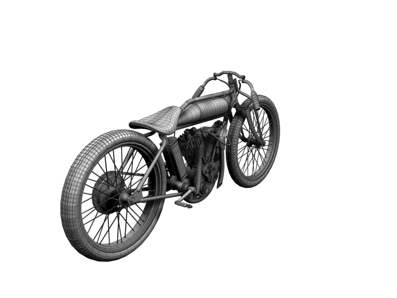indian boardtrack racer 1920 3d model 3ds max dxf fbx c4d obj 156047