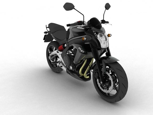 kawasaki er-6n 2012 3d model 3ds max fbx c4d obj 154617