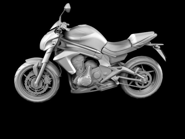 kawasaki er-6n 2012 3d model 3ds max fbx c4d obj 154630
