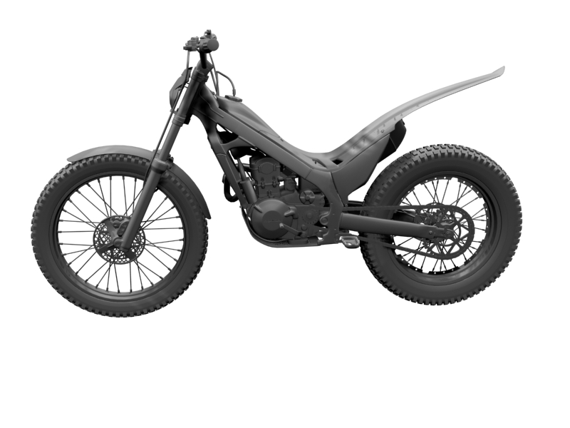 montesa cota 4rt 260 2014 3d model 3ds max dxf fbx c4d obj 161243