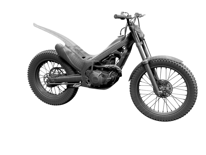montesa cota 4rt 260 2014 3d model 3ds max dxf fbx c4d obj 161248