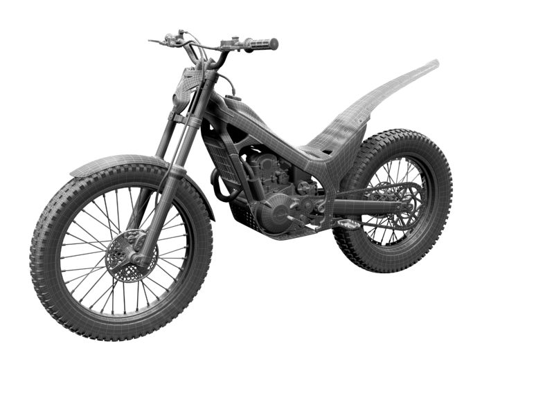 montesa cota 4rt 260 2014 3d model 3ds max dxf fbx c4d obj 161249