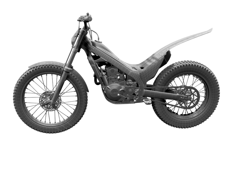 montesa cota 4rt 260 2014 3d model 3ds max dxf fbx c4d obj 161250