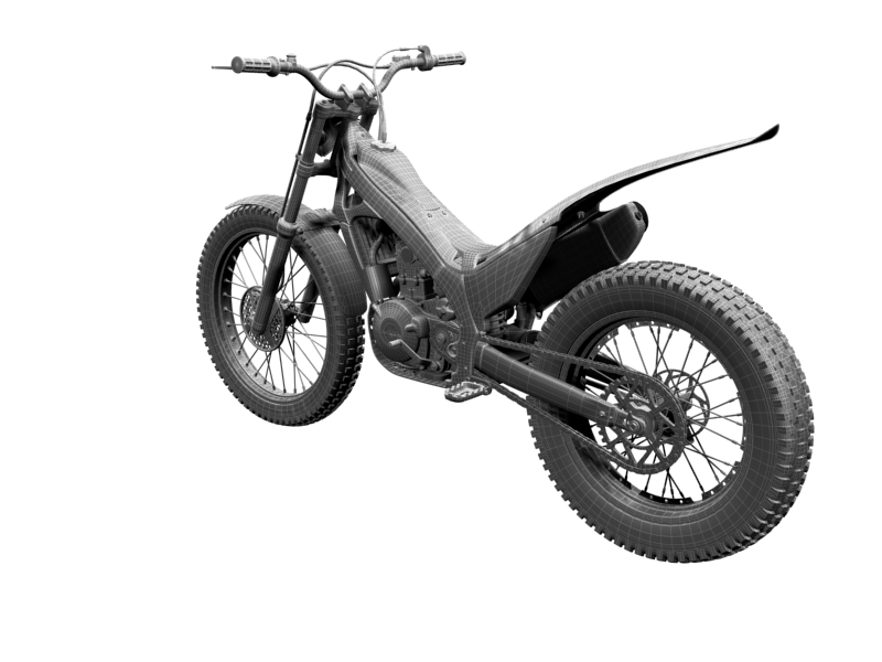 montesa cota 4rt 260 2014 3d model 3ds max dxf fbx c4d obj 161251