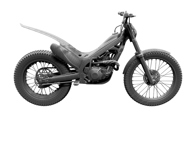 montesa cota 4rt 260 2014 3d model 3ds max dxf fbx c4d obj 161254