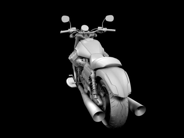 moto guzzi 1400 california arfer 2013 model 3d 3ds max dxf fbx c4d obj 155744
