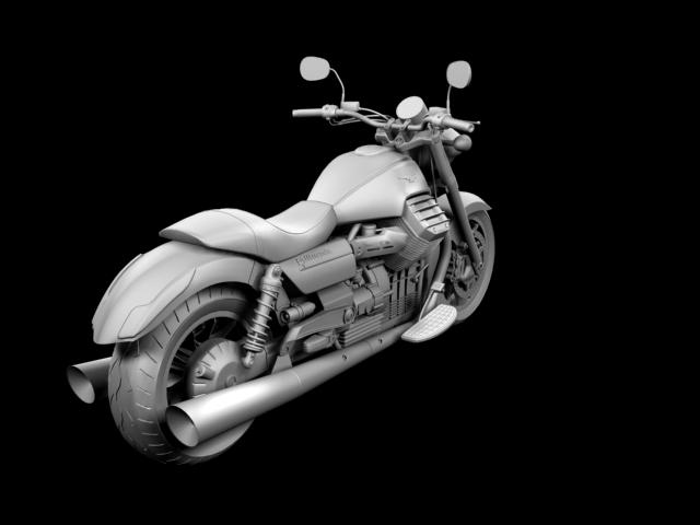 moto guzzi 1400 california arfer 2013 model 3d 3ds max dxf fbx c4d obj 155745