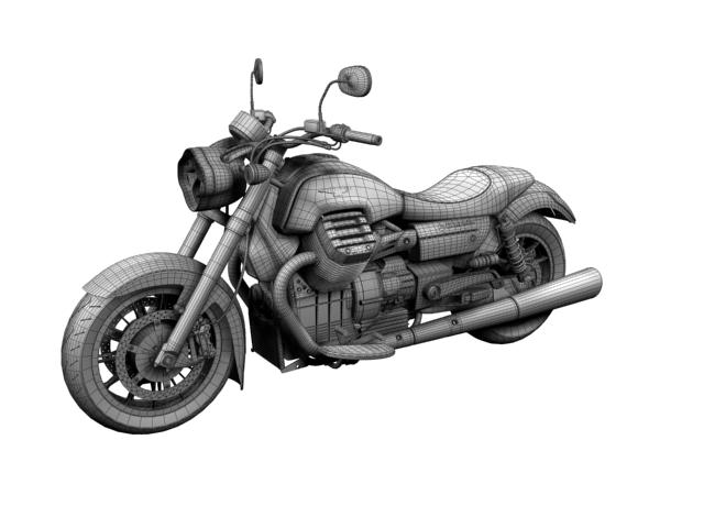 moto guzzi 1400 california arfer 2013 model 3d 3ds max dxf fbx c4d obj 155751