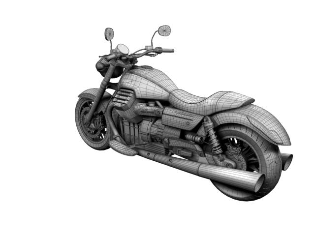 moto guzzi 1400 california arfer 2013 model 3d 3ds max dxf fbx c4d obj 155753