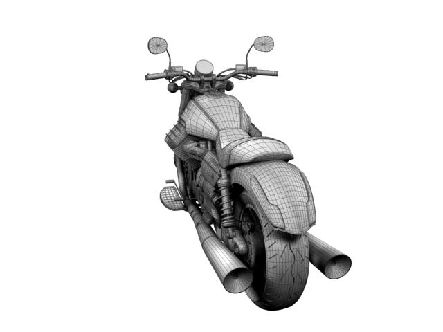 moto guzzi 1400 california arfer 2013 model 3d 3ds max dxf fbx c4d obj 155754