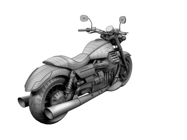 moto guzzi 1400 california arfer 2013 model 3d 3ds max dxf fbx c4d obj 155755