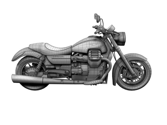 moto guzzi 1400 california arfer 2013 model 3d 3ds max dxf fbx c4d obj 155756