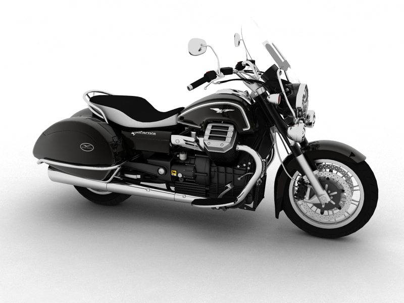 moto guzzi 1400 california touring 2013 3d model 3ds max dxf fbx c4d obj 155882