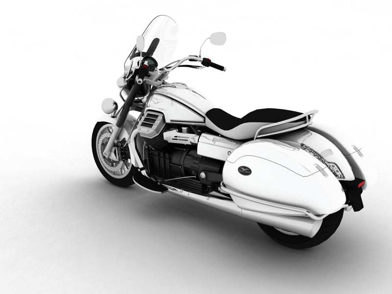 moto guzzi 1400 california touring 2013 3d model 3ds max dxf fbx c4d obj 155886