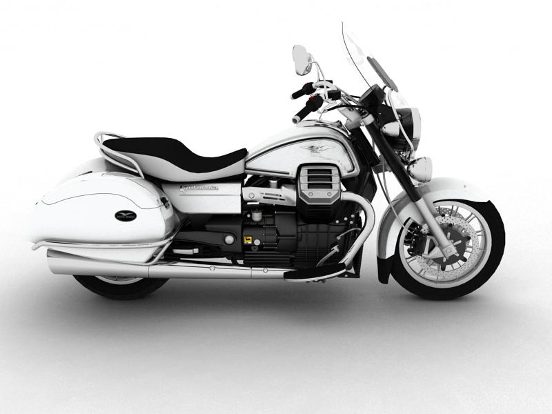 moto guzzi 1400 california touring 2013 3d model 3ds max dxf fbx c4d obj 155889