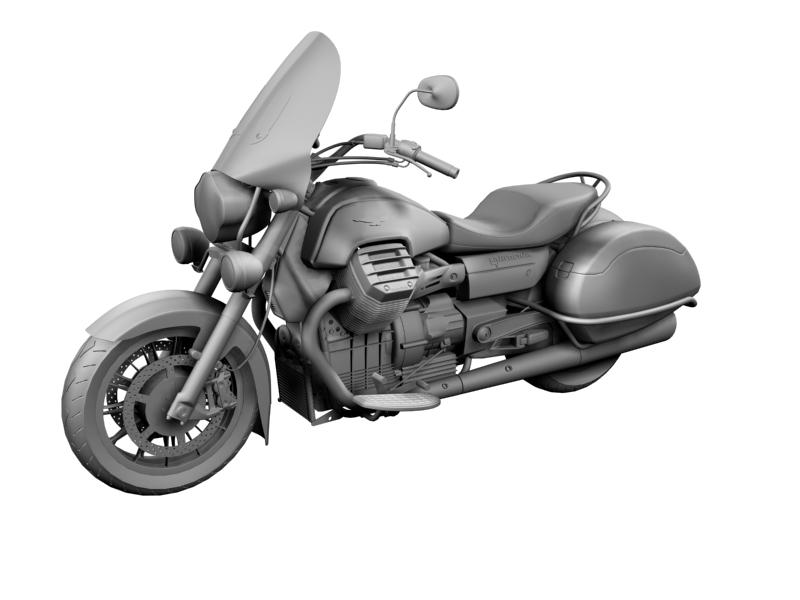 moto guzzi 1400 california touring 2013 3d model 3ds max dxf fbx c4d obj 155891