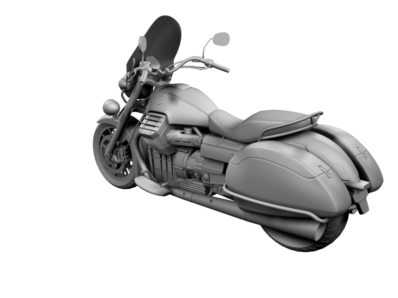 moto guzzi 1400 california touring 2013 3d model 3ds max dxf fbx c4d obj 155893