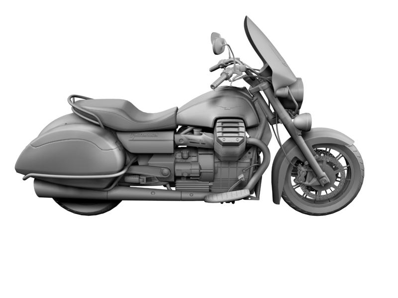 moto guzzi 1400 teithio teithiol 2013 3d 3ds max dxf fbx c4d obj 155896