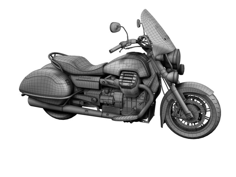 moto guzzi 1400 teithio teithiol 2013 3d 3ds max dxf fbx c4d obj 155897