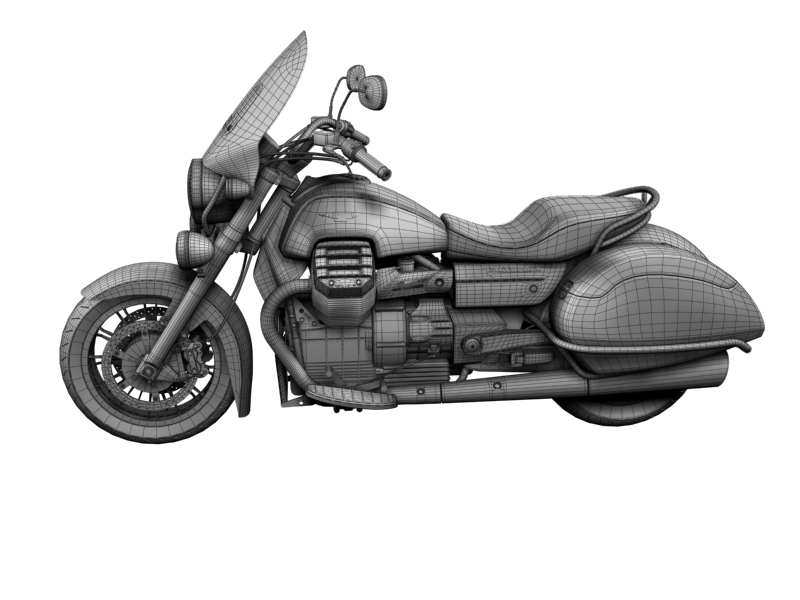 moto guzzi 1400 teithio teithiol 2013 3d 3ds max dxf fbx c4d obj 155899