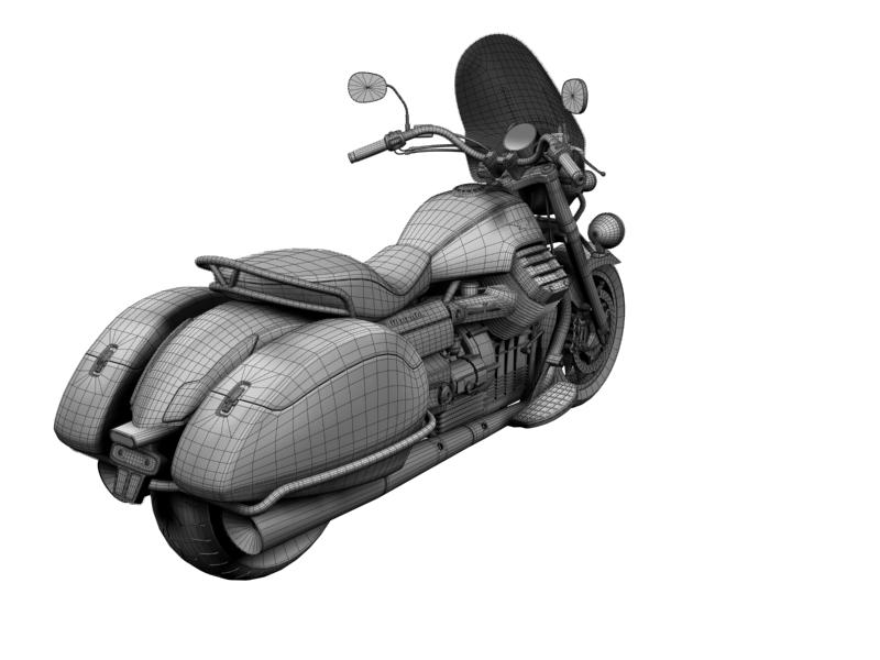 moto guzzi 1400 teithio teithiol 2013 3d 3ds max dxf fbx c4d obj 155902