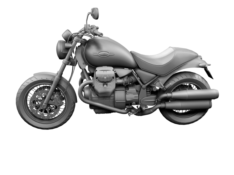moto guzzi bellagio 2014 3d model 3ds max dxf fbx c4d obj 156958