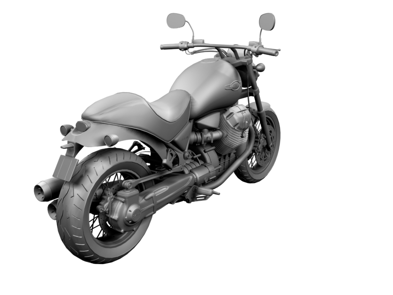 moto guzzi bellagio 2014 3d model 3ds max dxf fbx c4d obj 156961