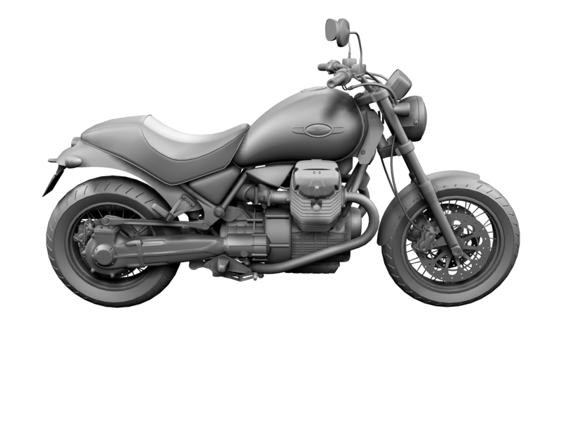 moto guzzi bellagio 2014 3d model 3ds max dxf fbx c4d obj 156962