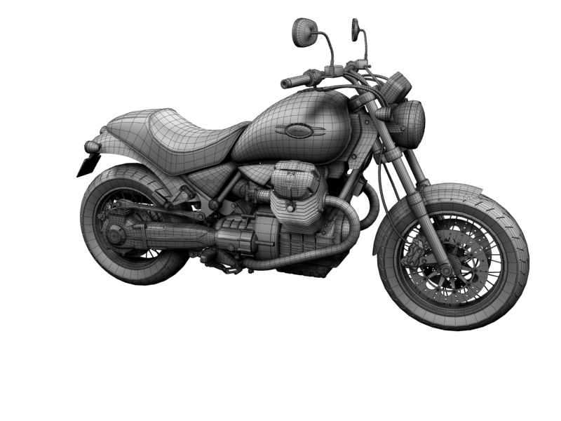 moto guzzi bellagio 2014 3d model 3ds max dxf fbx c4d obj 156963