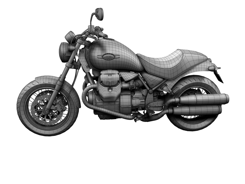 moto guzzi bellagio 2014 3d model 3ds max dxf fbx c4d obj 156964