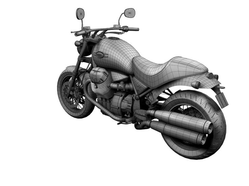 moto guzzi bellagio 2014 3d model 3ds max dxf fbx c4d obj 156965