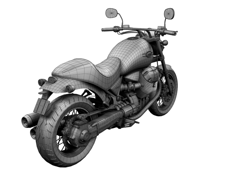 moto guzzi bellagio 2014 3d model 3ds max dxf fbx c4d obj 156967