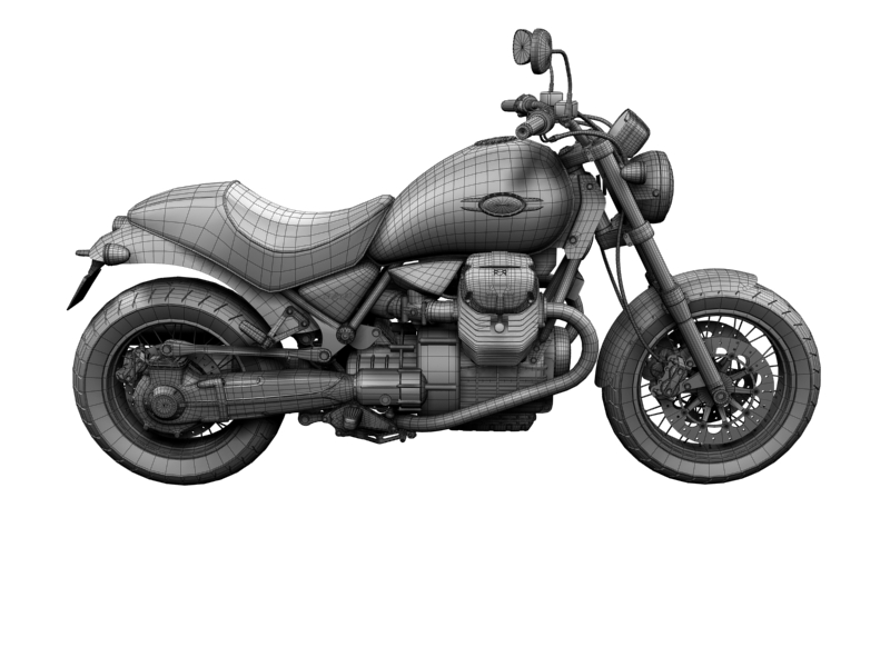 moto guzzi bellagio 2014 3d model 3ds max dxf fbx c4d obj 156968