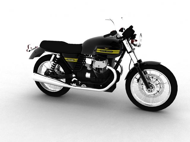 moto guzzi v7 classic 2010 3d model 3ds max c4d obj 151921