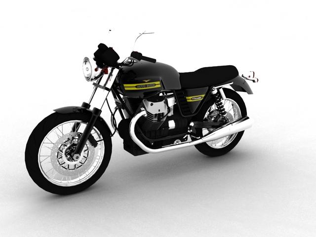 clasurol moto guzzi v7 model 2010 3d 3ds max c4d obj 151922