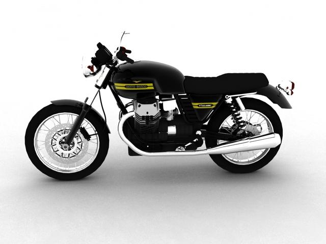 clasurol moto guzzi v7 model 2010 3d 3ds max c4d obj 151923
