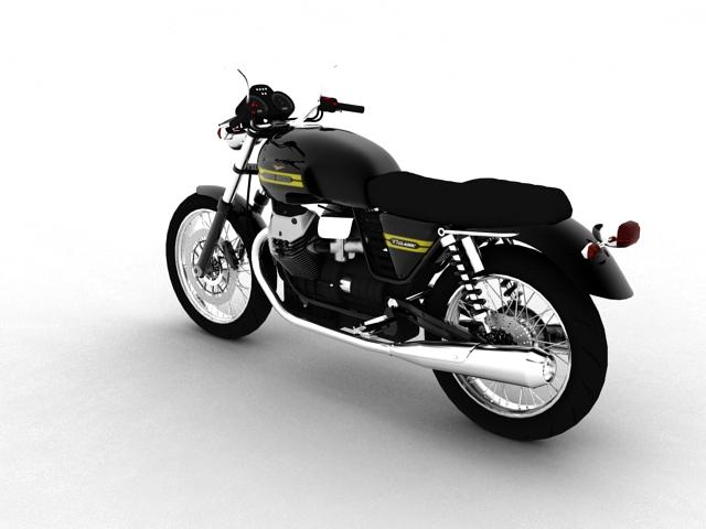 clasurol moto guzzi v7 model 2010 3d 3ds max c4d obj 151924