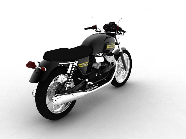 clasurol moto guzzi v7 model 2010 3d 3ds max c4d obj 151925