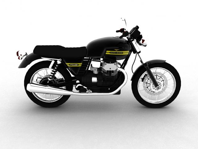 clasurol moto guzzi v7 model 2010 3d 3ds max c4d obj 151926